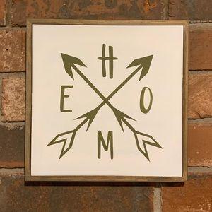 Boho Home Arrows Sign